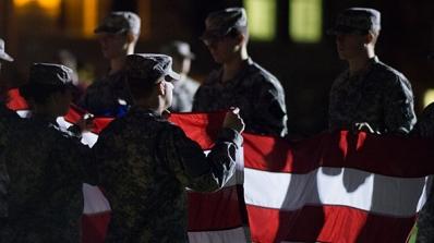 ROTC Formal Retreat Ceremony