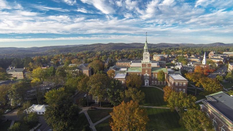 Aerial photo of Dartmouth campus