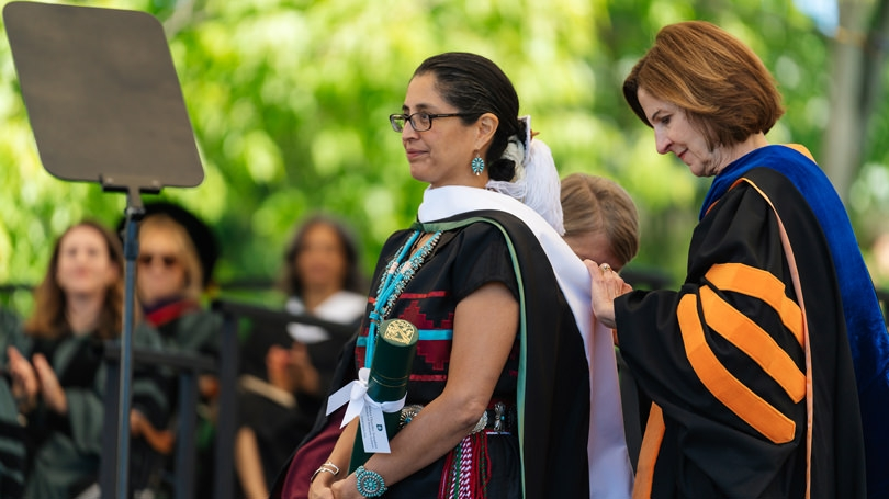 Hilary Tompkins receives an honorary degree from Dartmouth