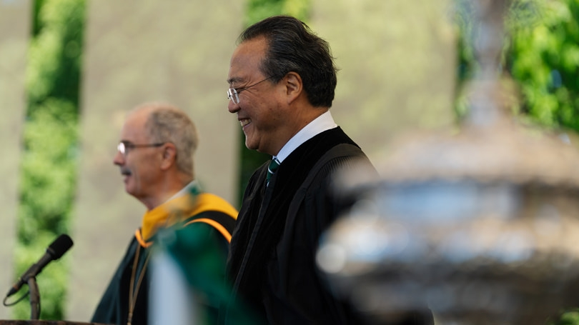 Yo-Yo Ma receives an honorary degree from Dartmouth