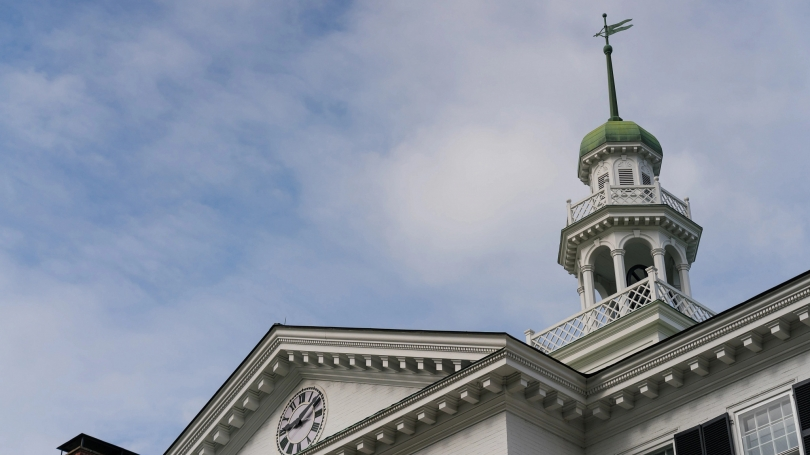 Dartmouth Hall cupola and weathervane