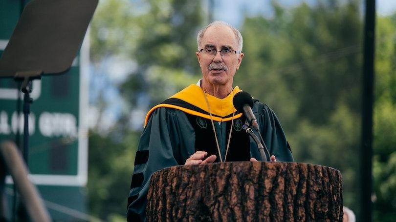 President Hanlon at 2021 Commencement