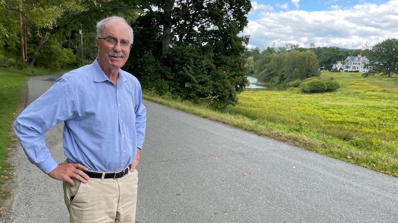 President Hanlon at Occom Pond